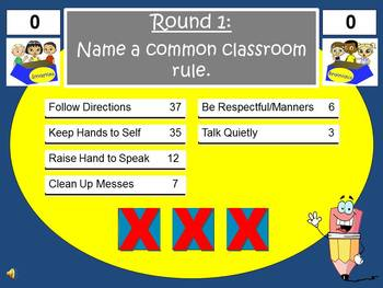 Back to School Feud Powerpoint Game