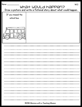 Back to School Fictional Writing Printables
