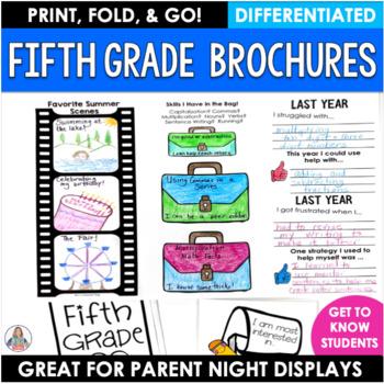 Back to School Fifth Grade Brochure Activity
