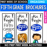 Back to School Fifth Grade Brochure Activity