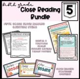 5th Grade Close Reading Bundle-Reading Posters, Success Cr