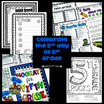Back To School Fifth Grade First Week Day 5 Activities La