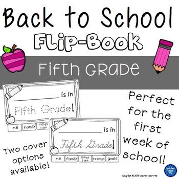 Back to School - Fifth Grade - Flip-Book