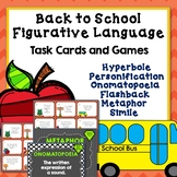 Figurative Language Games and Creative Writing Projects, Back to School