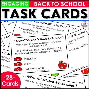 Back to School Figurative Language Task Cards