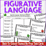 Back to School Figurative Language Task Cards