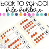 Back to School File Folder Activities for Special Education