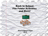 Back to School File Folder Activities and More!