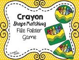 Back to School File Folder Game:  Crayon Shape Matching