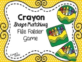 Back to School File Folder Game:  Crayon Shape Matching