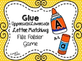 Back to School File Folder Game:  Glue Uppercase to Lowercase Matching (A-L)