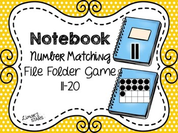 Back to School File Folder Game: Notebook Number to Quantity Matching 11-20