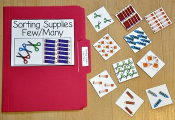 """Back to School File Folder Games--""""Sorting Our School"""""""