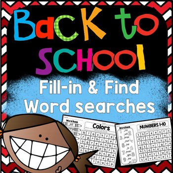 Back to School Word Search: Fill-in-and-Find Phonics Puzzles