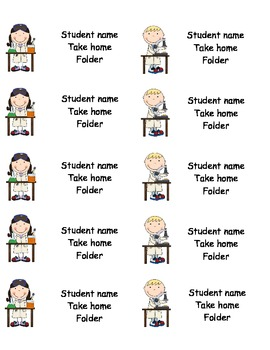 Back to School Fillable Labels