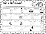 Back to School: Find-A-Friend Editable