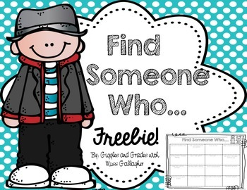 Back to School- Find Someone Who...
