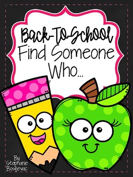 Back to School Find Someone Who