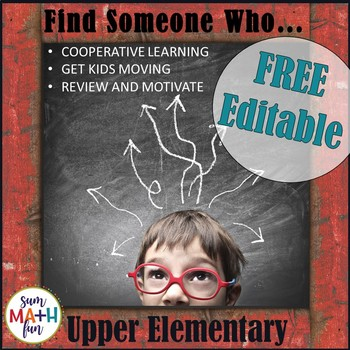 Back to School - Find Someone Who... FREE and Editable