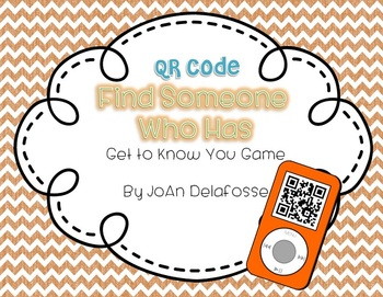 Back to School Find Someone Who - Get to Know You Game-QR Codes