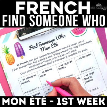 Back to School: Find Someone Who - Mon Été (past tense FRENCH)
