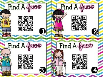 Back to School Find a Friend Using QR Codes