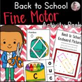 Back to School Fine Motor Activities (English and French)