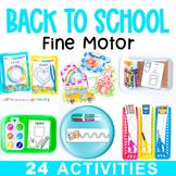 Back to School Fine Motor Activities Preschool Task Box Centers & Work Tubs