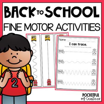 Back to School Fine Motor Centers for Pre-K and Kindergarten