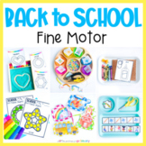 Back to School Fine Motor Activities Preschool Centers, Work Tubs, Worksheets