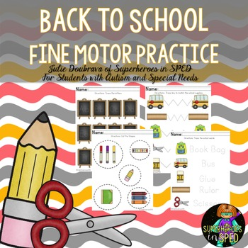 Back to School Fine Motor Pack for Students with Special Needs