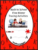 Back To School Fine Motor Skills Worksheets Tracing Activi