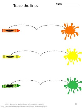 Fine Motor Skills Back To School Activities Tracing Activities Special Education