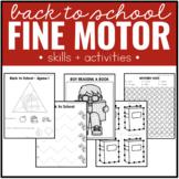 Back to School Fine Motor Skills and Activities