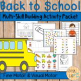 Back to School Fine Motor & Visual Motor Skills Packet