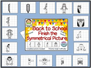 Back to School Finish the Symmetrical Picture