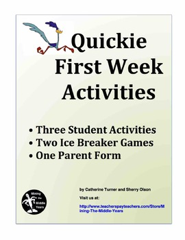 Back to School Activities- Games, Projects and Forms for the First Few Days