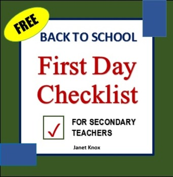 Back to School:  First Day Checklist for Secondary Teachers