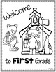 Back to School First Day Coloring Page