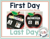 Back to School First Day Communication Pieces Preschool, P
