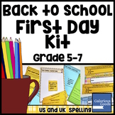 First Day of School Kit - Back to School