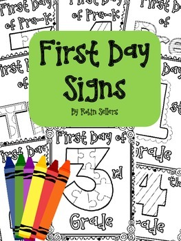 Back to School {First Day Signs}