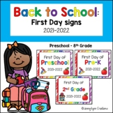 Back to School: First Day Signs 2018-2019