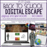 Back to School, First Day of School Activity, Escape Room, Digital Escape Ⓡ