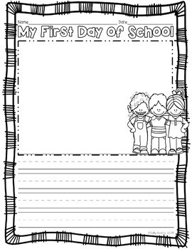First Day of School Writing, Beginning of the Year, Back To School