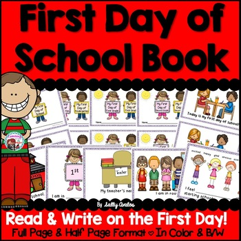 First Day of School Book, Back to School Book, First Day Week of School Writing