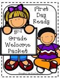 Back to School First Day of Third Grade Welcome Packet