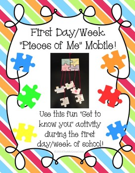 Back-to-School First Day/Week Get to Know You Mobil Activity