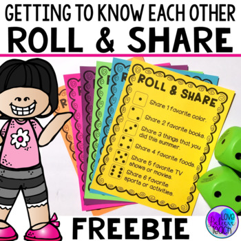 Back to School Activity - First Days - Ice Breaker Game FREEBIE