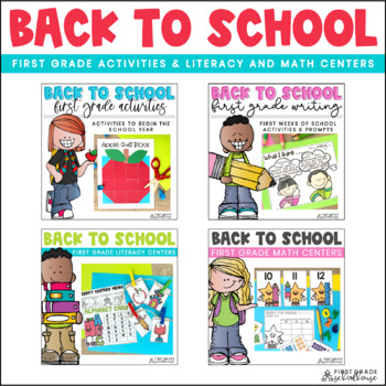 Back to School First Grade Writing Activities and Centers Bundle